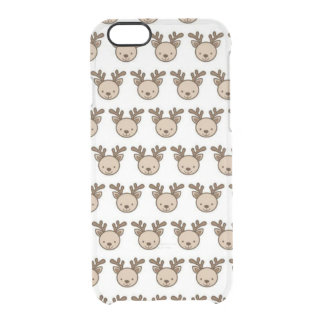 Reindeer Pattern iPhone 6/6s Clearly™ Case