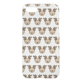 Reindeer Pattern iPhone 8/7 Clearly™ Case