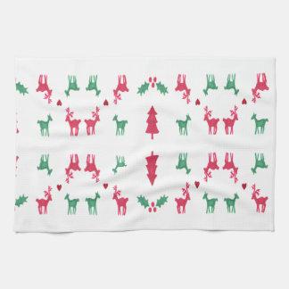 REINDEER PATTERN TOWELS