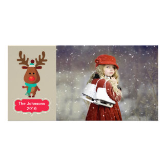 Reindeer Photo Card