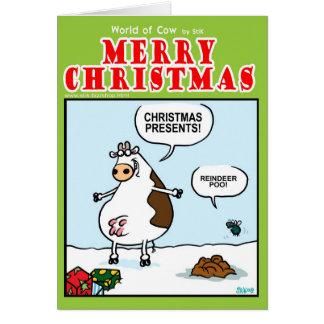Reindeer POO! Greeting Card