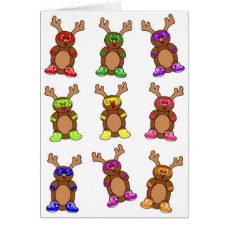 Reindeer posse greeting card