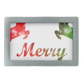 Reindeer Rectangular Belt Buckles