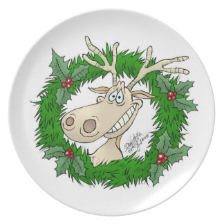 Reindeer reef, on a Dinner plate. Dinner Plate