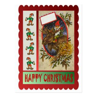 Reindeer ride postcard