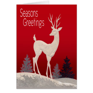 Reindeer Seasons Greetings Card