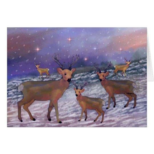 Reindeer Snowfall Greeting Cards