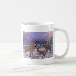 Reindeer Snowfall Mug