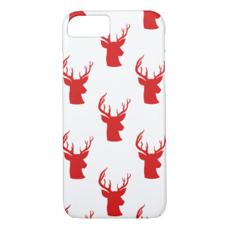 Reindeer | Stag | Antler Red Holiday Pattern iPhone 8/7 Case