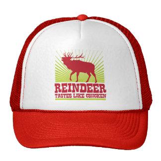 Reindeer Tastes Like Chicken Trucker Hats