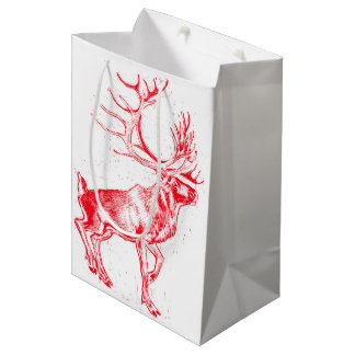 Reindeer Toile de Jouy Gift Bag