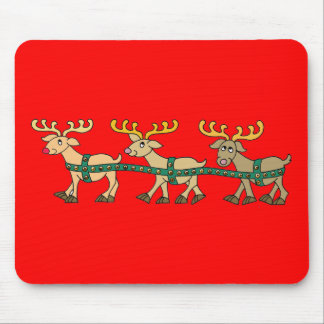 Reindeer Triplets Mouse Pad