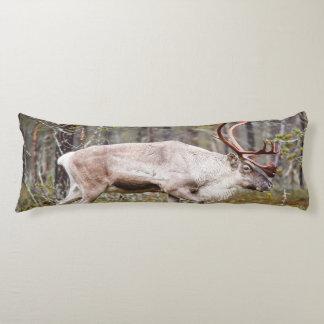 Reindeer walking in forest body pillow