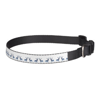 Reindeer Winter Snow Dog Collar