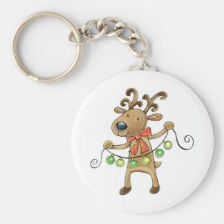 Reindeer with Christmas Lights Keychain