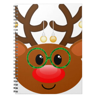 Reindeer with glasses notebooks