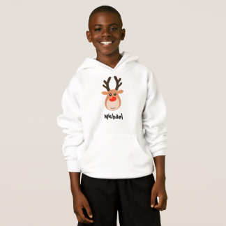 Reindeer with name Boy's Sweatshirt