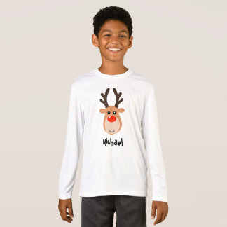 Reindeer with name Boy's T-Shirts