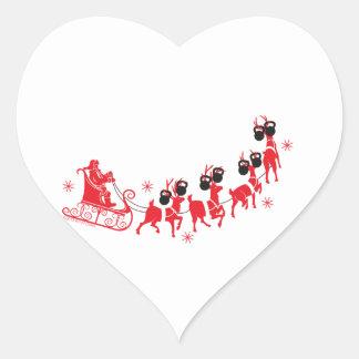 Reindeer Workout Heart Sticker