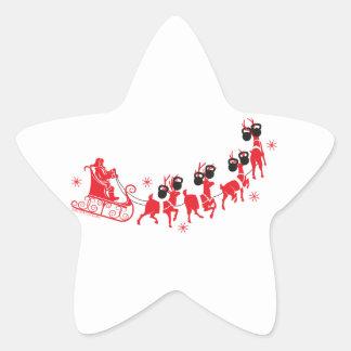 Reindeer Workout Star Sticker