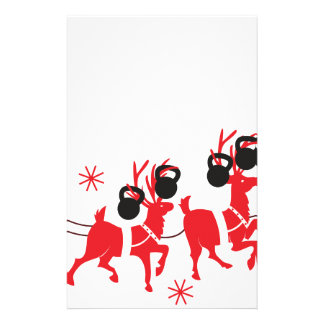 Reindeer Workout Stationery