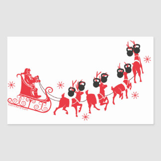 Reindeer Workout Sticker