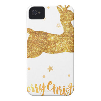 reindeere golden  stars Case-Mate iPhone 4 cases