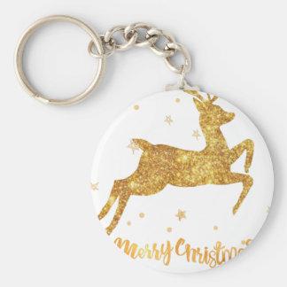 reindeere golden  stars keychain