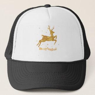 reindeere golden  stars trucker hat