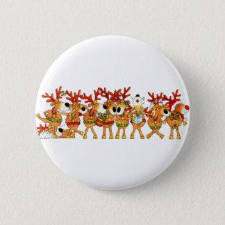 Reindeers Sing 2 Inch Round Button
