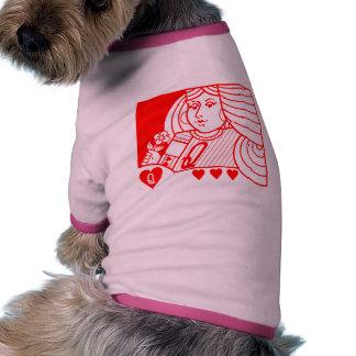 Reine contemporaine de l'habillement d'animal fami vêtements pour animaux domestiques