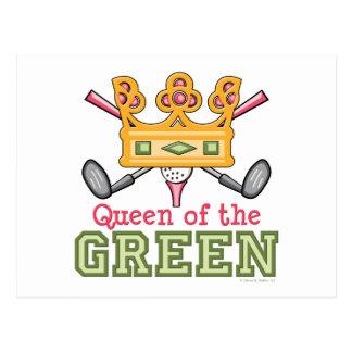 Reine de la carte postale verte de golf