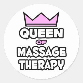 Reine de thérapie de massage adhésifs ronds