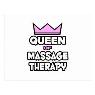Reine de thérapie de massage carte postale