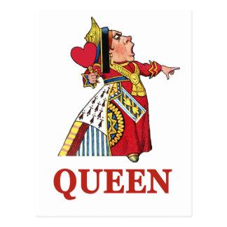 Reine des coeurs d'Alice au pays des merveilles Cartes Postales