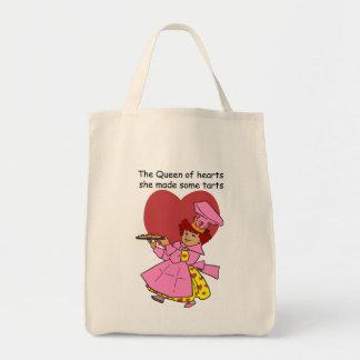 Reine des coeurs sac en toile épicerie
