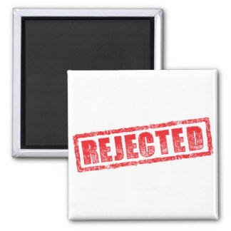 Rejected rubber stamp image magnet