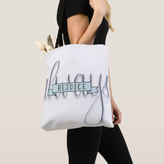 Rejoice Always Hand Lettered Bible Verse Tote/Bag Tote Bag