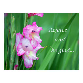 rejoice and be glad postcard