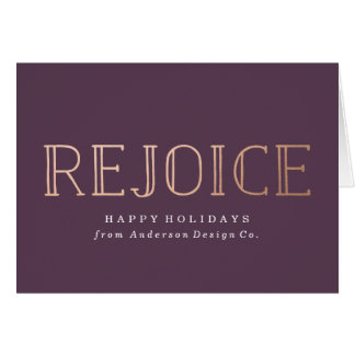 Rejoice | Corporate Holiday Card