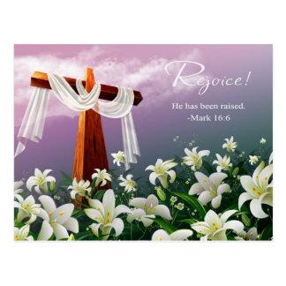 Rejoice. Customizable Easter Postcards