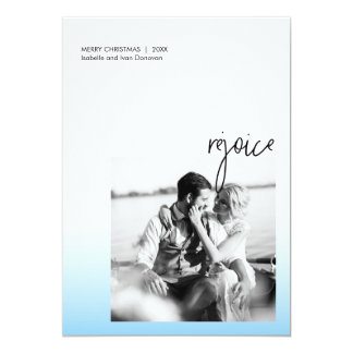 Rejoice Holiday – Light blue Card
