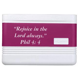 """Rejoice"" Igloo Scripture 12 Can Cooler"