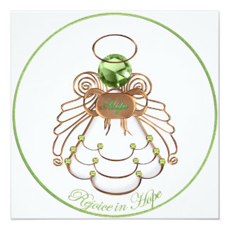Rejoice in Hope - Christmas Angel of Hope Card