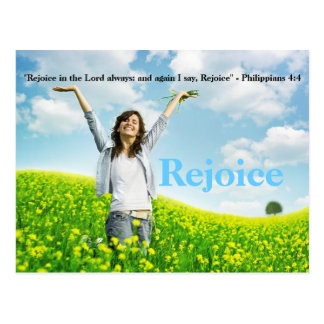 Rejoice in the Lord always Christian PostCard Art