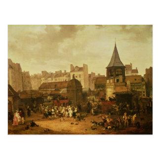 Rejoicing at Les Halles Postcard