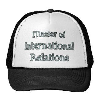 Relations internationales casquette de camionneur