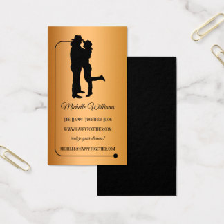 Relationship Rose Gold Black Blogger Business Card
