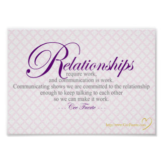 Relationships And Communication Poster