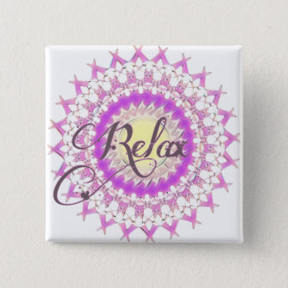 Relax 2 Inch Square Button